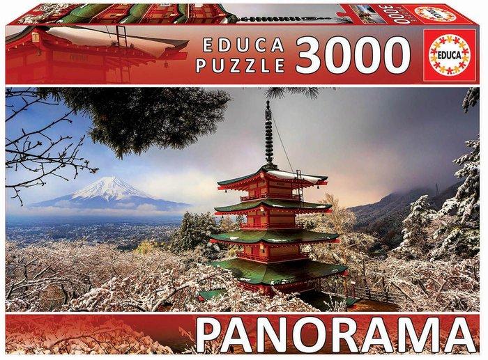 Puzzle educa 3000 pzs monte fuji y pagoda chureito, japon