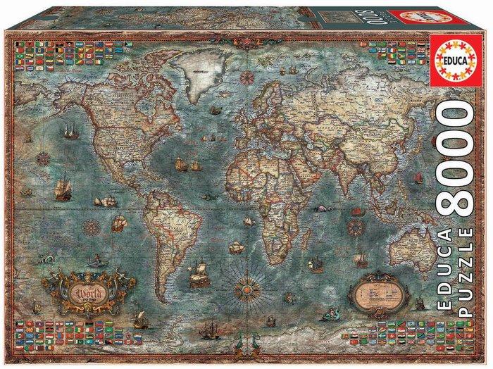 Puzzle educa 8000 piezas mapamundi historico