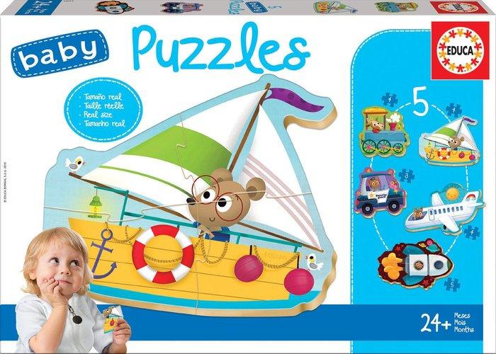 Puzzle educa infantil vehiculos 2
