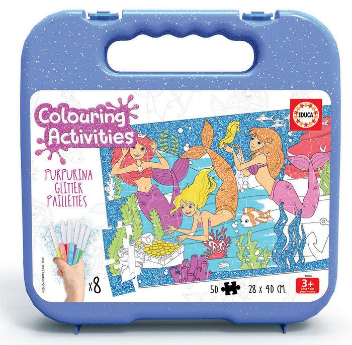 Puzzle 50 sirenas colorea actividades