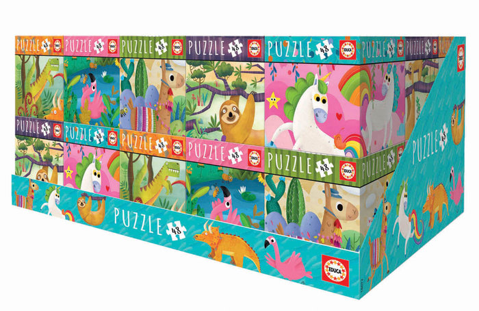 Puzzles display 30 unidades de 48 piezas