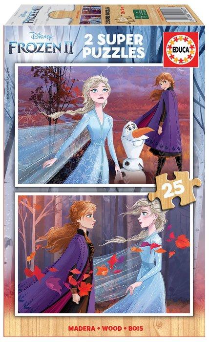 Puzzles 2x25 piezas frozen 2