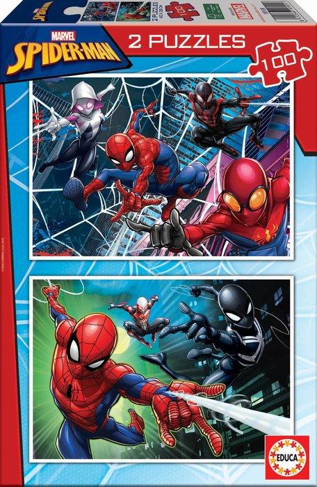 Puzzle 2x100 piezas spider-man