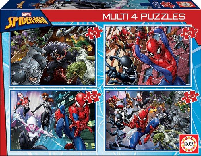 Puzzle 4 multi 50-80-100-150 ultimate spider-man
