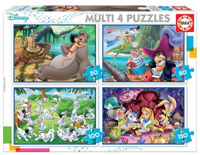 Puzzle 4 disney progresivos 50-80-100-150 variados