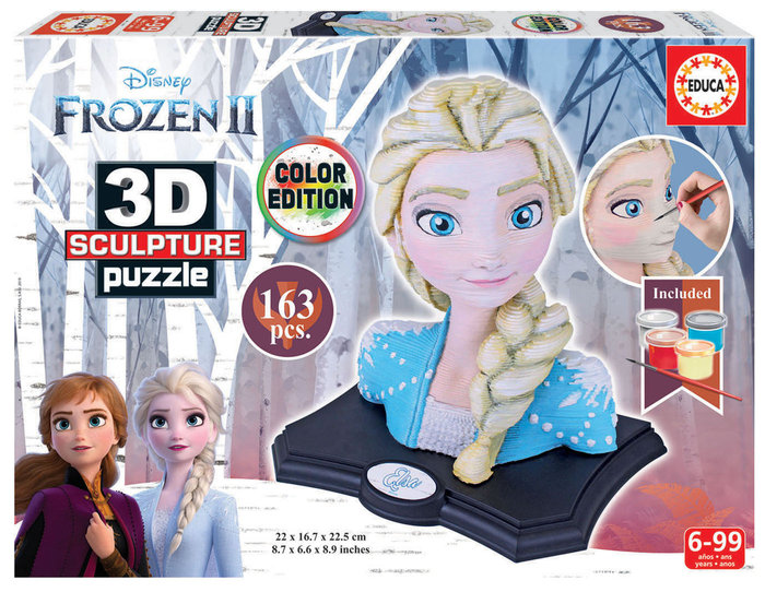 Puzzle educa figura frozen 3d
