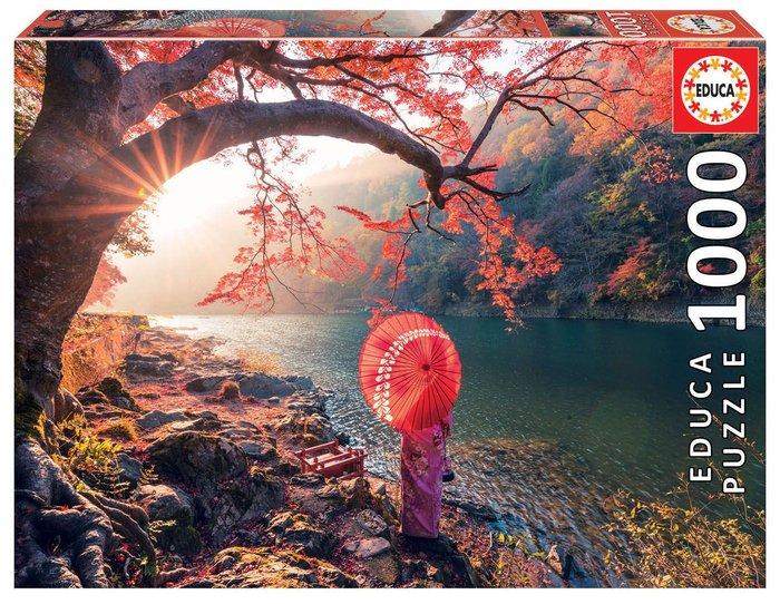 Puzzle educa 1000 piezas amanecer en el rio katsura, japon