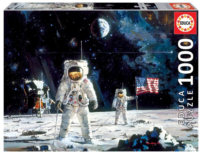Puzzle educa 1000 pzs first men on the moon, robert mccall