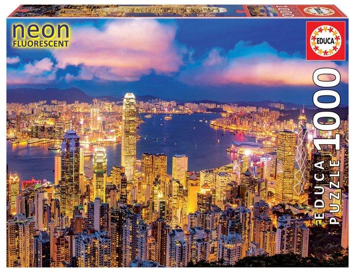 Puzzle educa 1000 piezas neon hong kong
