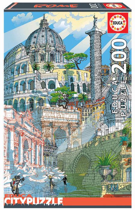 Puzzle educa 200 piezas roma citypuzze