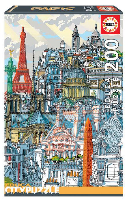 Puzzle educa 200 piezas paris citypuzzle