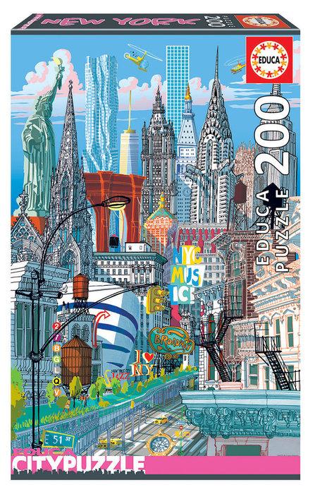Puzzle educa 200 piezas nueva york city puzzle
