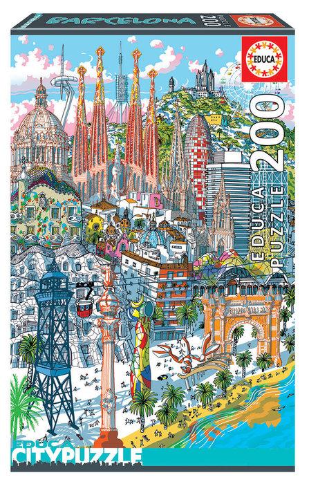 Puzzle educa 200 piezas barcelona citypuzzle