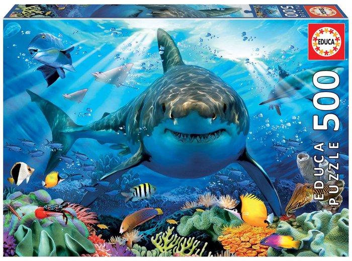 Puzzle educa 500 piezas gran tiburon blanco