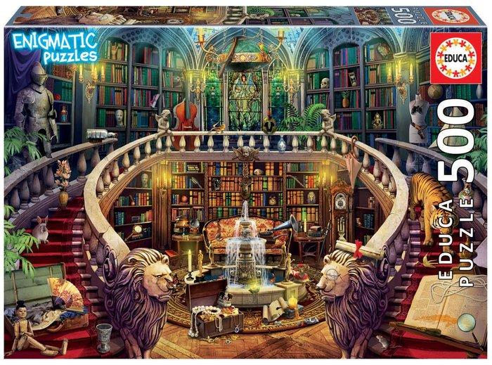Puzzle educa 500 piezas biblioteca enigmatic