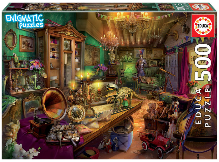 Puzzle educa 500 piezas tienda de antiguedades enigmatic