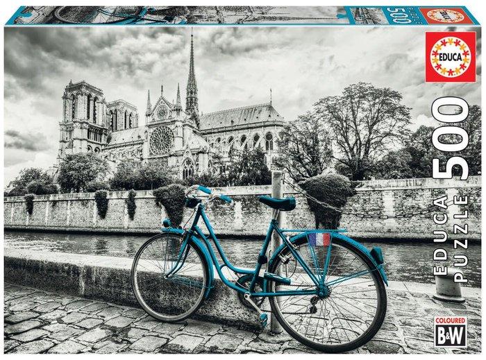 Puzzle educa 500 piezas bicicleta cerca de notre dame