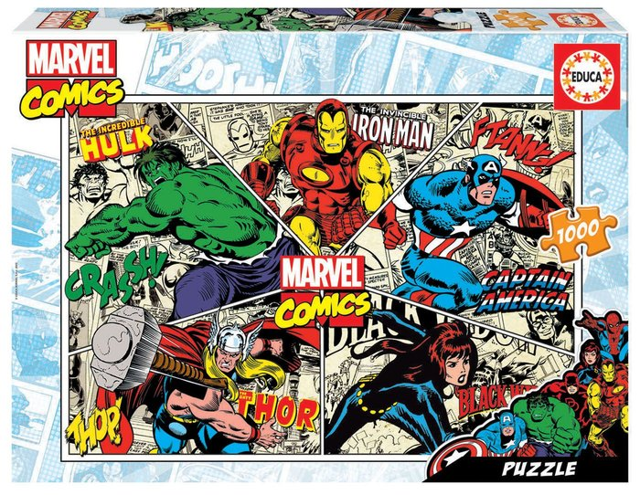 Puzzle educa 1000 piezas marvel comics