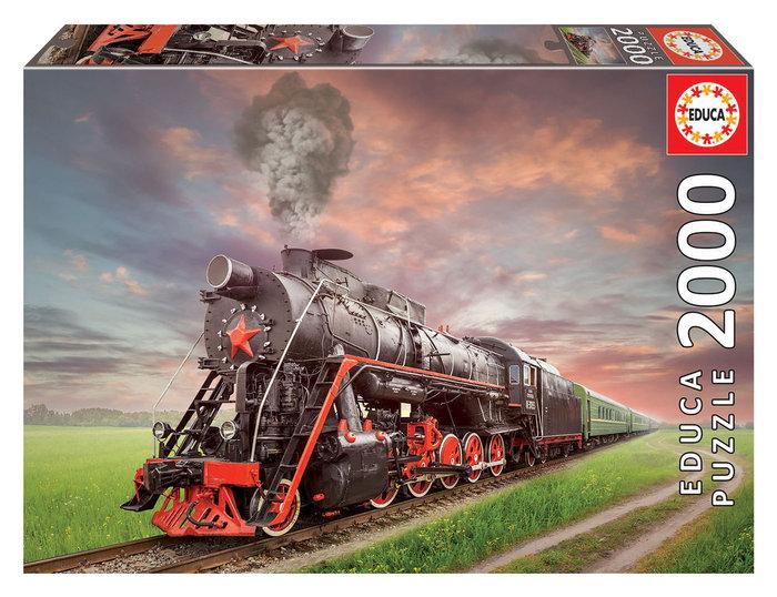 Puzzle educa 2000 piezas locomotora de vapor