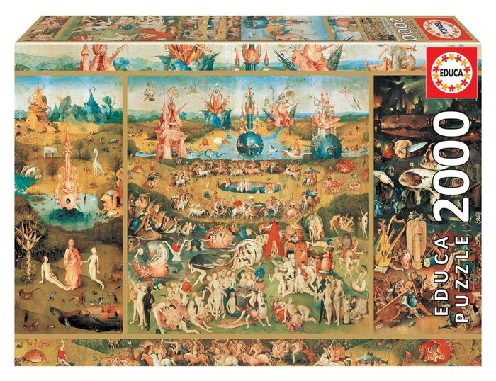 Puzzle educa 2000 piezas el jardin de las delicias