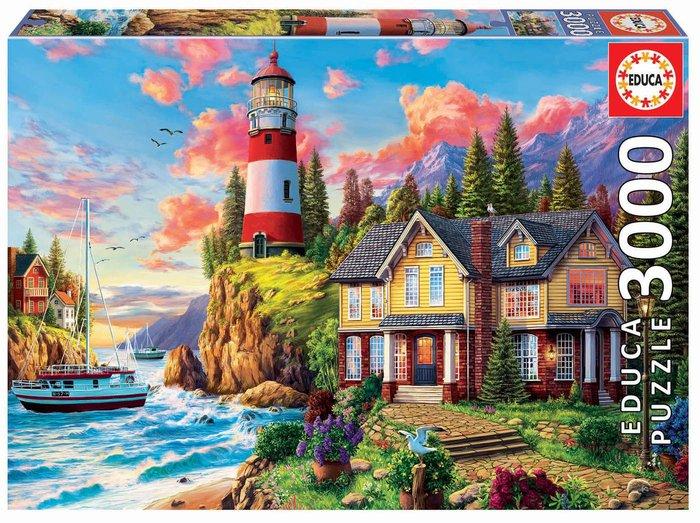 Puzzle educa 3000 piezas faro cerca del oceano