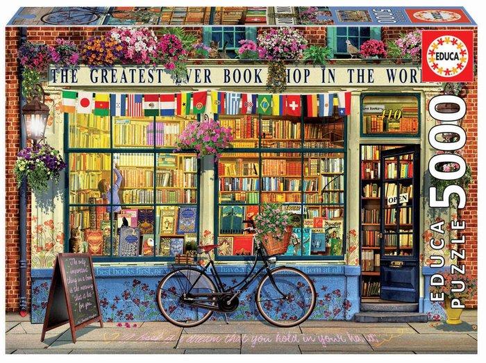Puzzle educa 5000 piezas la mejor libreria del mundo