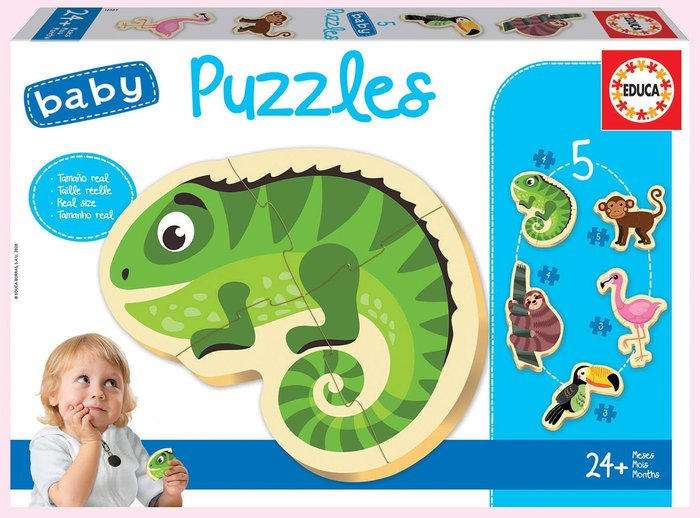 Puzzle educa infantil animales tropicales