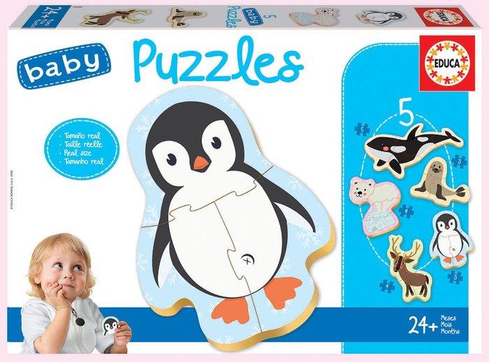 Puzzle educa infantil animales polo norte