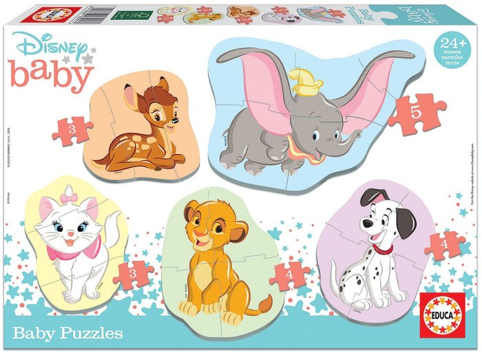 Puzzle educa baby disney animals