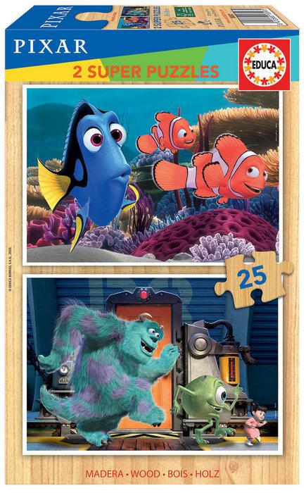 Puzzle 2x25 disney pixar nemo + monsters