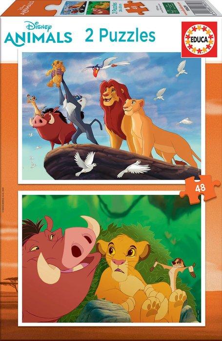 Puzzle 2x48 piezas rey leon