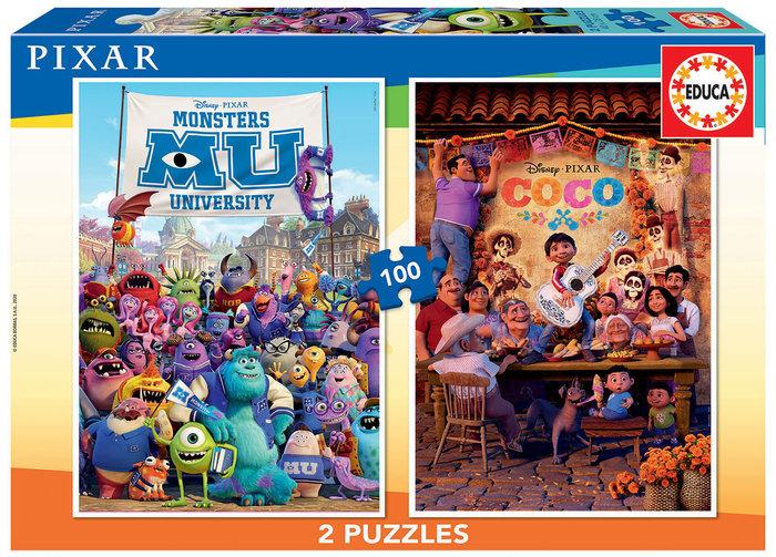 Puzzle 2x100 pixar (coco + monsters university)