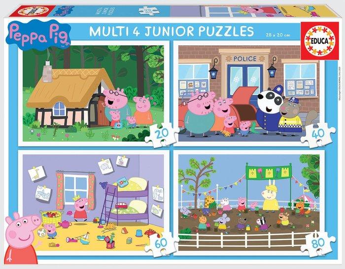 Puzzle multi 4 junior peppa pig 20-40-60-80