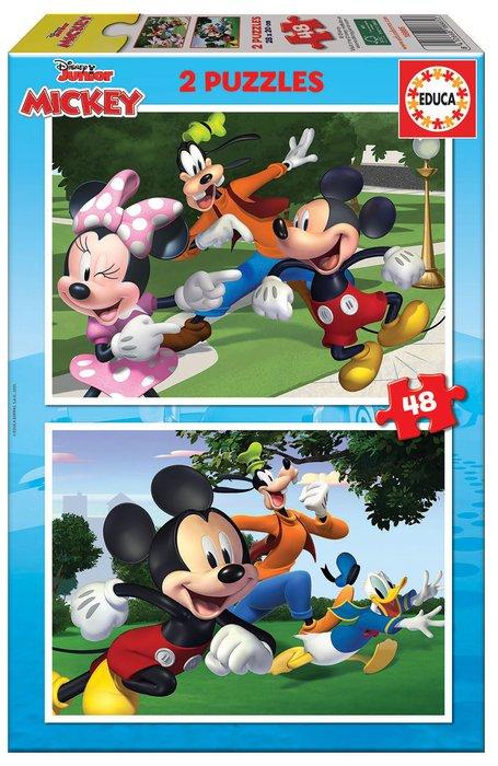 Puzzle educa infantil 2x48 piezas mickey & friends