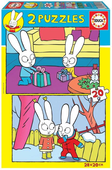 Puzzle educa infantil 2x20 piezas simon