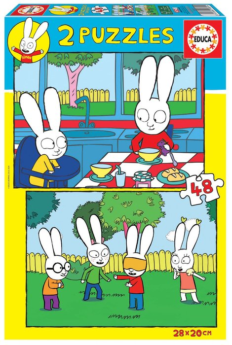Puzzle educa infantil 2x48 piezas simon