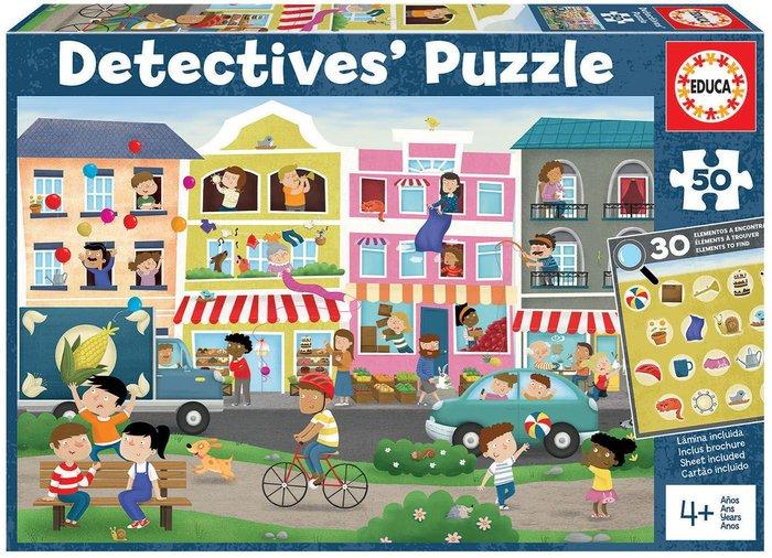 Puzzle educa 50 piezas ciudad detectives