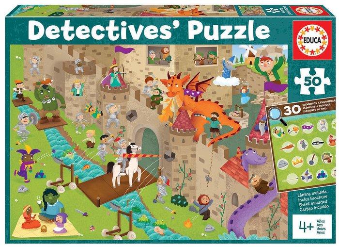 Puzzle educa 50 piezas castillo detectives