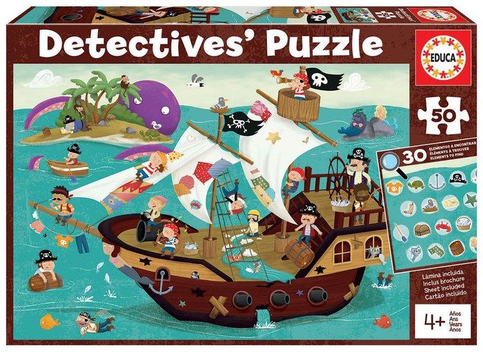Puzzle educa 50 piezas piratas detectives