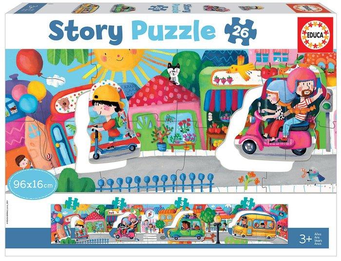 Puzzle educa 26 piezas vehiculos en la ciudad story puzzle