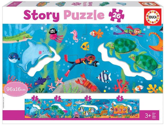 Puzzle educa 26 piezas mundo submarino story puzzle