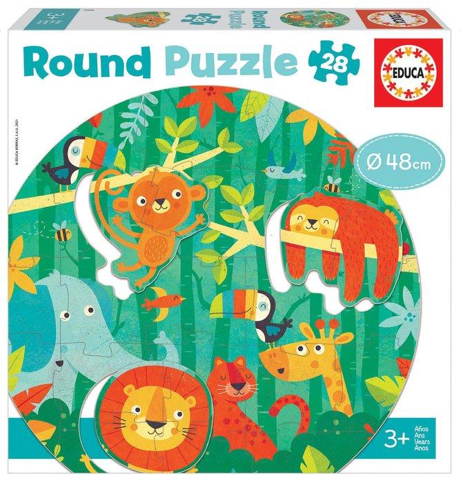 Puzzle educa circular 28 piezas la selva round puzzle