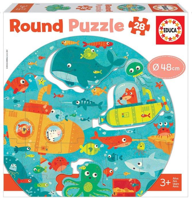 Puzzle educa circular 28 piezas bajo el mar round puzzle