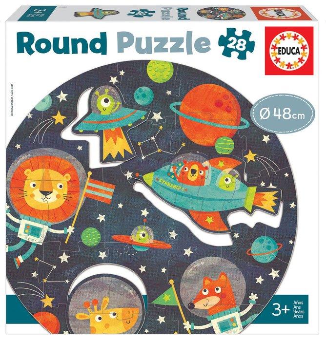 Puzzle educa circular 28 piezas el espacio round puzzle
