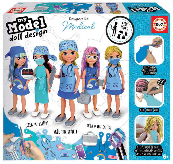 Juego educa my model doll design medical