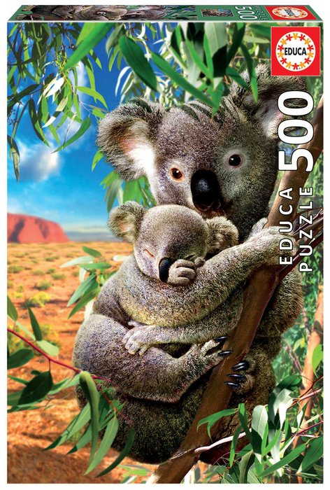Puzzle educa 500 piezas koala con su cahorro