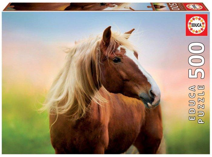 Puzzle educa 500 piezas caballo al amanecer