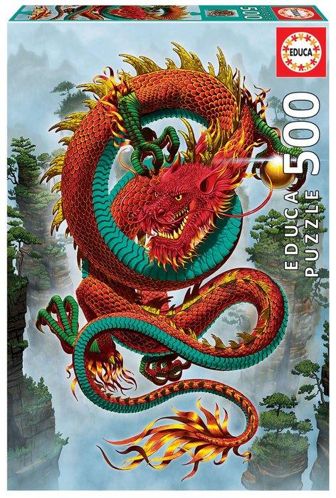 Puzzle educa 500 piezas el dragon de buena fortuna vincent h