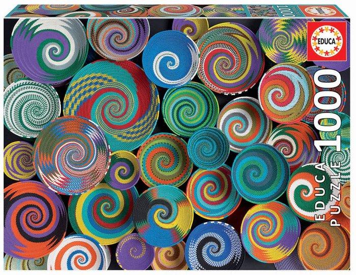 Puzzle educa 1000 piezas cestas africanas