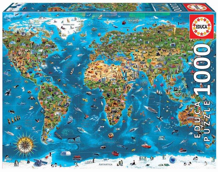 Puzzle educa 1000 piezas maravillas del mundo